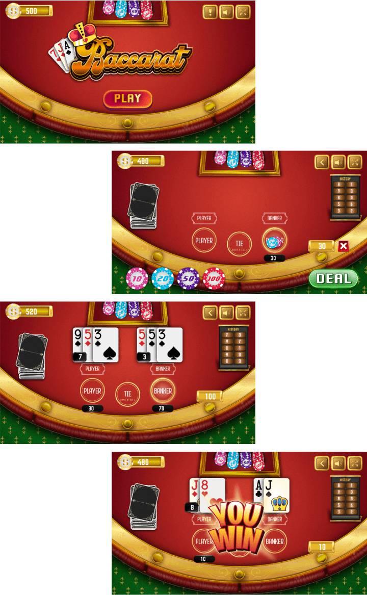 Baccarat - HTML5 Casino Game - 1