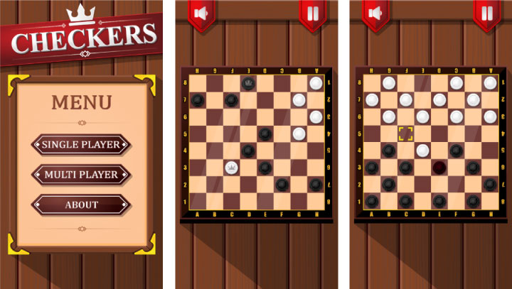 Checkers - HTML5 Game (Phaser 3) - 1