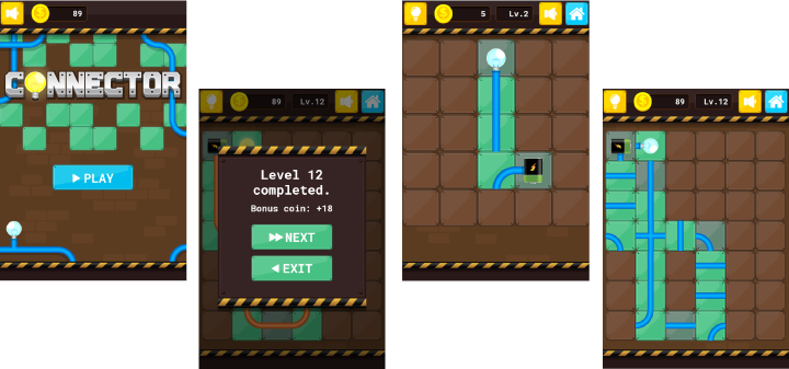 Connector - HTML5 Puzzle Game (Phaser 3) - 1